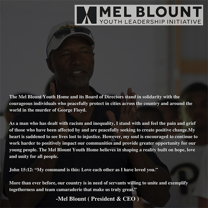 Important Message From Mel Blount